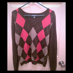 IZOD Argyle Size Large Sweater. EUC.